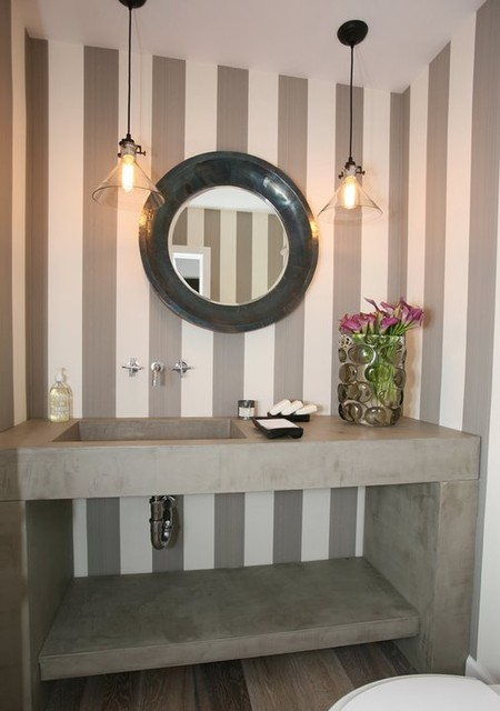 In Home Projects contemporary-powder-room