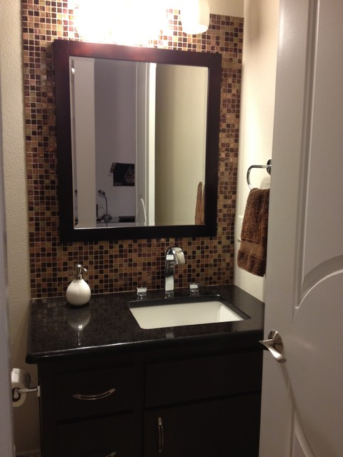 interior traditional powder room