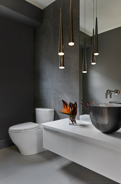 Inuit Project Modern Powder Room Toronto By Carriage