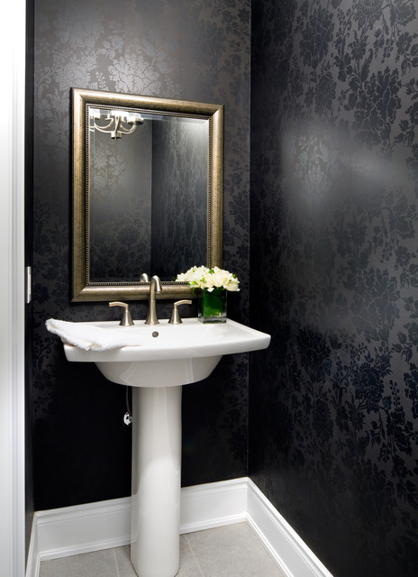 Jane Lockhart Interior Design Transitional Powder Room