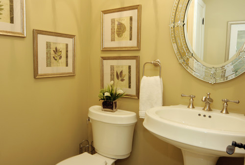 Traditional Bathroom with Venetian Mirror