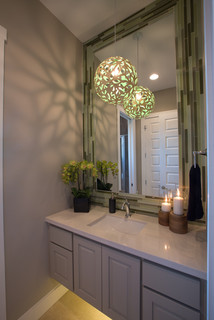 Jimmy Jacobs Custom Homes Crystal Falls Model - Contemporary - Powder Room - austin - by Mary ...