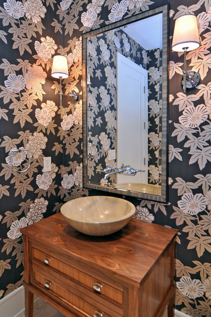 Johnson & Associates Interior Design contemporary powder room