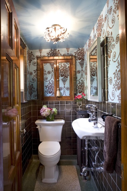 Joni Spear Interior Design traditional powder room