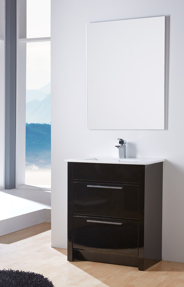 Kato 27 Bathroom Vanity Black High