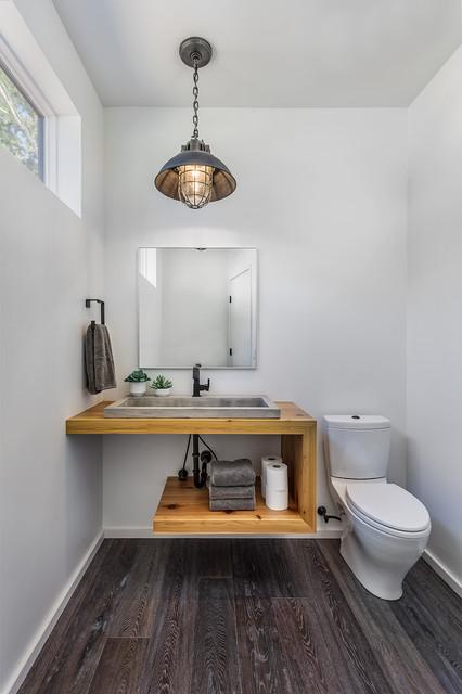 Keowee Midcentury Modern Rustic Powder Room