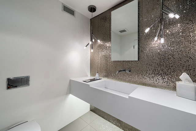 King 39 s point contemporary powder room los angeles for Badideen 2015