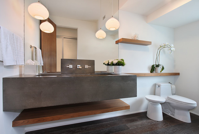 Kitchen and Bathrooms contemporary-powder-room