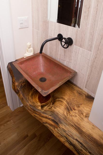 kitchen renovation and addition craftsman powder room