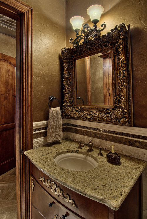 C b i d home decor and design the powder room small for Powder room bathroom ideas