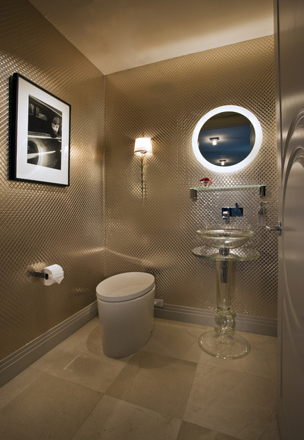 Knudson Interiors contemporary powder room