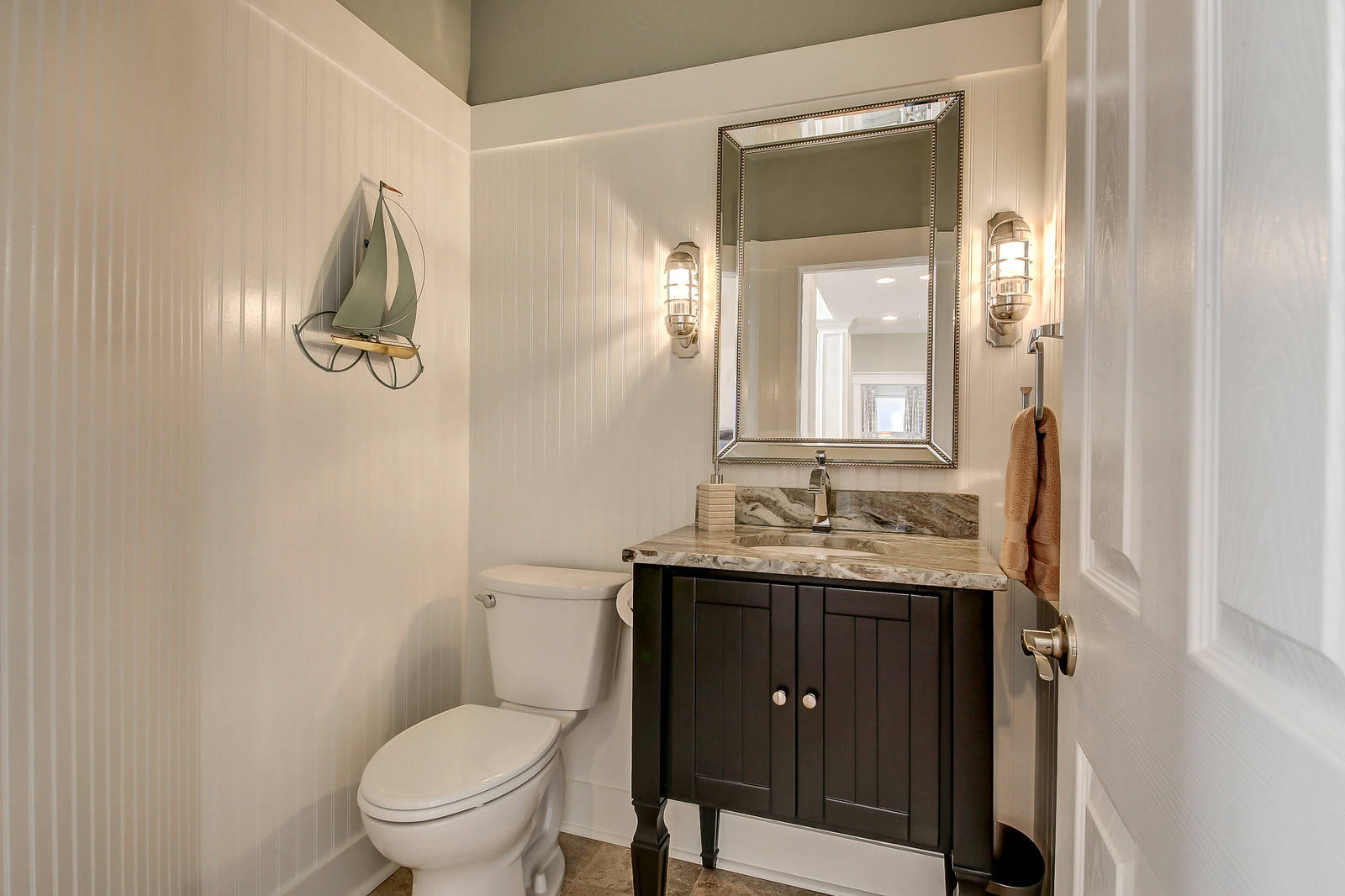 75 Beautiful Brown Powder Room With Granite Countertops Pictures Ideas December 2020 Houzz
