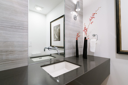 In Addition, Custom Design And Innovative Techniques With Mirrors Can Bring  The Splashback Down To The Bathroom Sink Countertop With The Faucet Fixture  ...