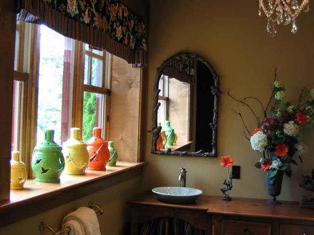 Lake Toxaway Showhouse eclectic-powder-room
