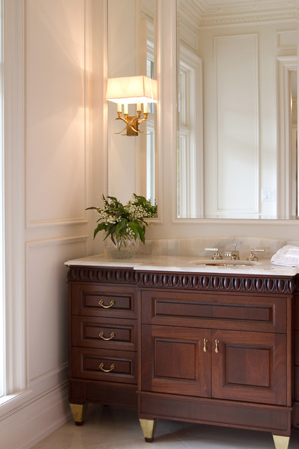 Lakeshore Residence Traditional Powder Room Toronto