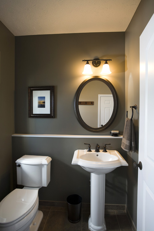 powder room updated to brown color scheme bathroom designs