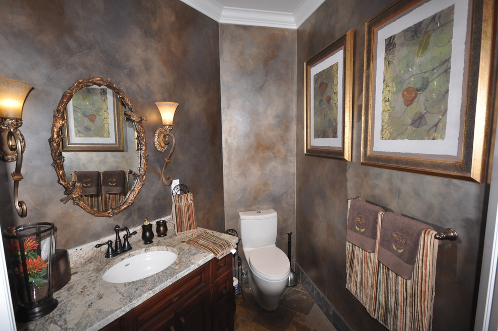 Langley Powder Room Traditional Powder Room Vancouver By Clay Construction Inc