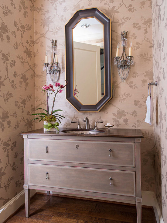 Small powder room design ideas pictures remodel decor for Powder room cabinets vanities
