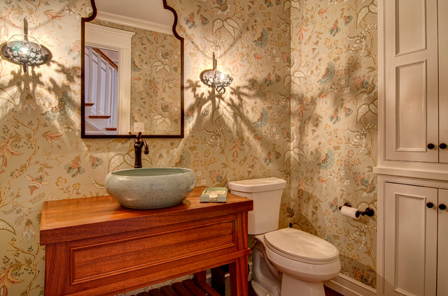 Lilly Farm - Renovation eclectic-powder-room