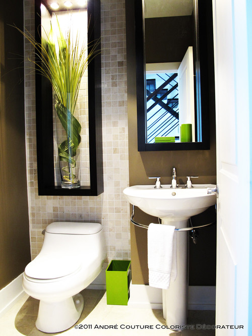 Lively powder room contemporary powder room