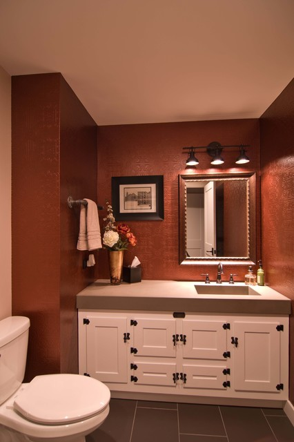 Loft Condo Renovation - Industrial - Powder Room - Chicago - by Besch Design, Ltd.