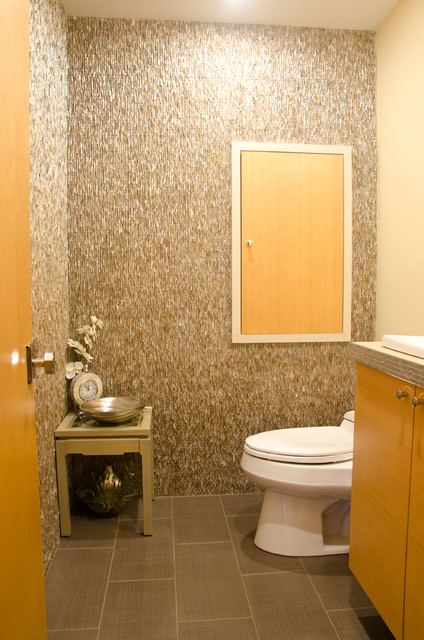 Los Altos Mid Century Modern Home midcentury-powder-room