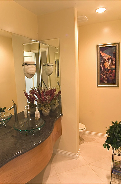 Los Angeles Custom Home by Mega Builders mediterranean powder room