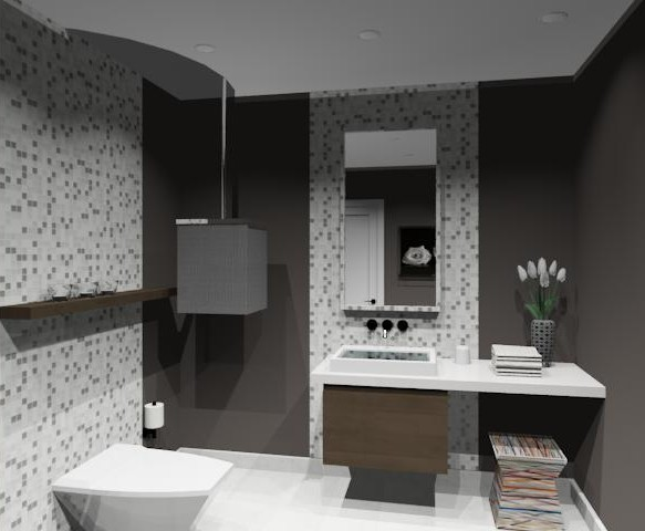 luxurious powder room. Black Bedroom Furniture Sets. Home Design Ideas