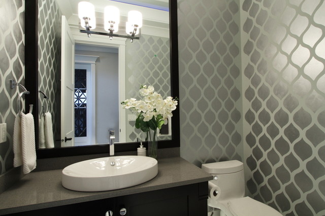 Luxury living in Richmond BC contemporary-powder-room