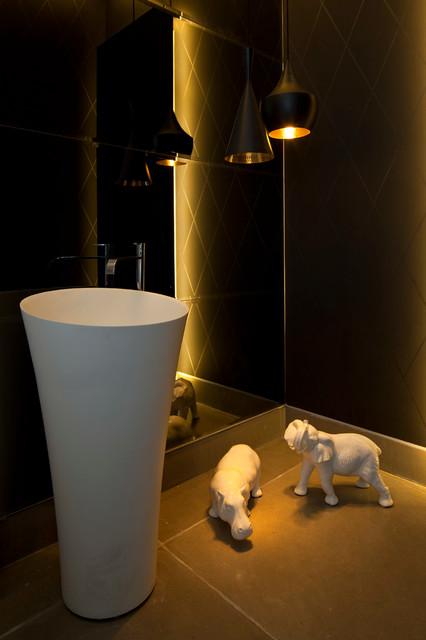 LUXURY VILLA IN ISRAEL modern-powder-room