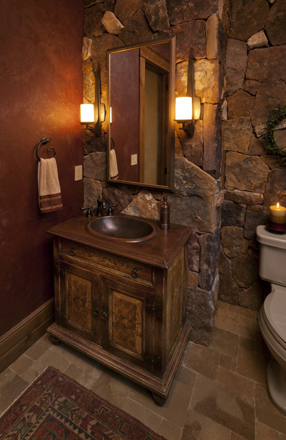 Lynne Barton Bier - Home on the Range Interiors eclectic-powder-room