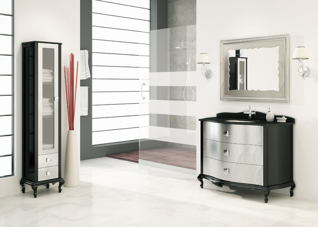 "Macral Venezia bathroom vanity 44,8"". Black-silver fantasy ..."