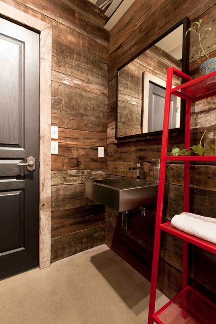 Maison Conteneur - Container House industrial-powder-room