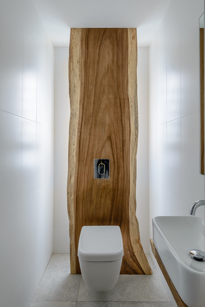 This is an example of a contemporary powder room in Sydney.
