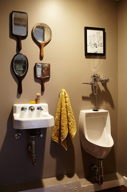 eclectic powder room by Joe Schmelzer, Inc. dba Treasurbite Studio, Inc.