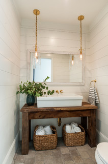 Manhattan Beach Modern Farmhouse Farmhouse Powder Room Los Angeles By Lori Dennis Asid
