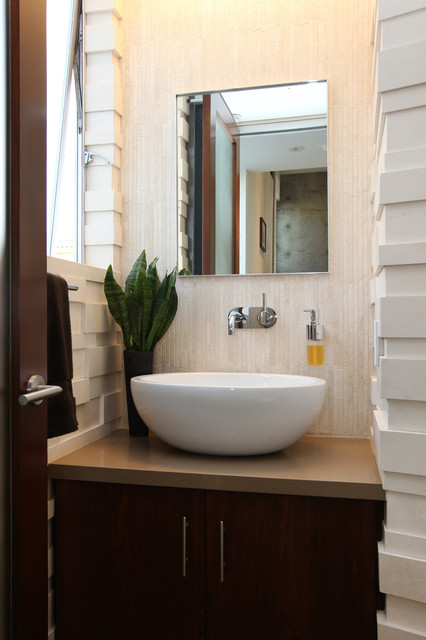 Manhattan Beach Ultra Modern Powder Room Remodel Modern