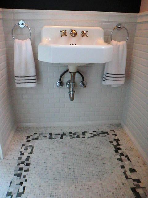 Marble Matrix Powder room traditional-powder-room