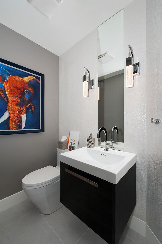 Master Bathroom in the Hamptsons - Modern - Powder Room ...