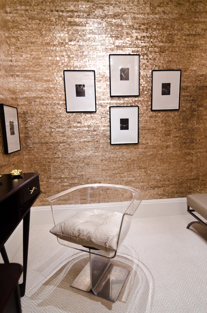 Master Dressing Room by Kriste Michelini Interiors contemporary powder room
