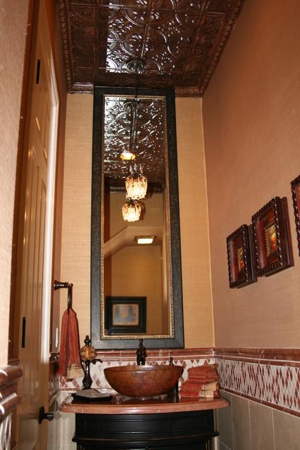 Zuniga Interiors mediterranean-powder-room