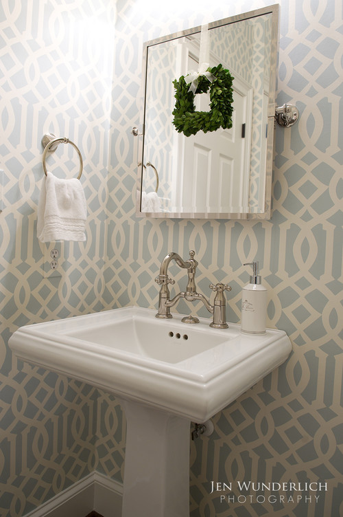 An Easy Way To Add Glamour To The Small Powder Room Design Jennifer Bevan