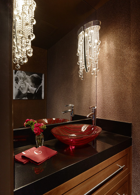 Menlo Park Townhouse Powder Room Contemporary Powder