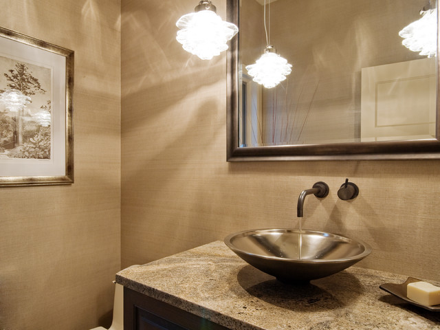 Mercer Island Waterfront contemporary-powder-room