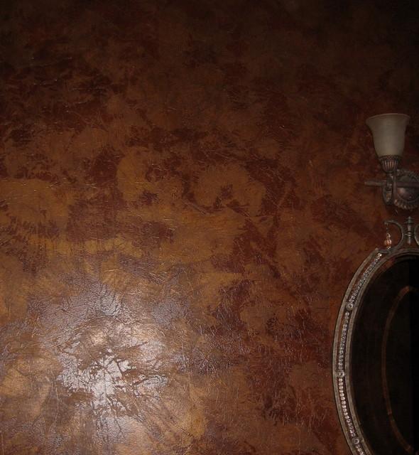metallic texture powder room traditional-powder-room