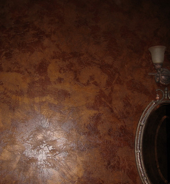 Metallic Texture Powder Room Metallic Texture Paint Designs