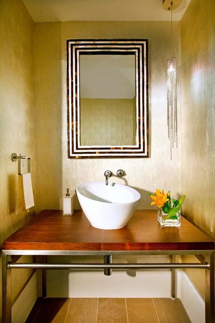 Miami Interior Design - Sophisticated Getaway contemporary-powder-room