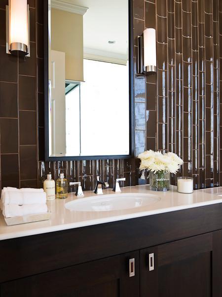 Michael molthan luxury homes interior design group modern powder room