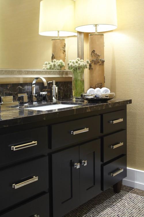 contemporary powder room by Urrutia Design