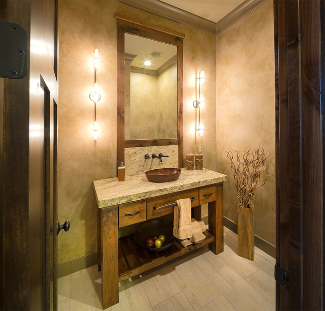 Model Home, Starr Homes LLC - Rustic - Powder Room - Kansas City ...